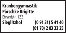 Anzeige Krankengymnastik Pörschke Brigitte