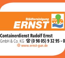 Anzeige CONTAINERDIENST Ernst Rudolf GmbH & Co. KG