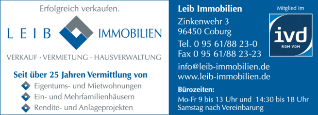 Anzeige Leib Immobilien
