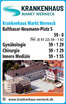 Anzeige Krankenhaus Markt Werneck