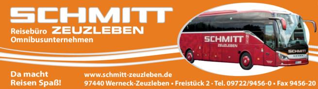 Anzeige Schmitt Omnibusunternehmen