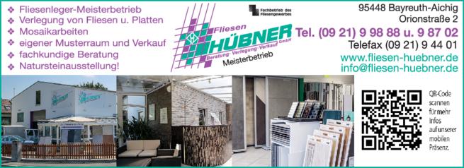 Anzeige Hübner Fliesen GmbH