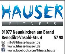 Anzeige Fitness Hauser