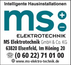 Anzeige MS - Elektrotechnik Stegmann Michael