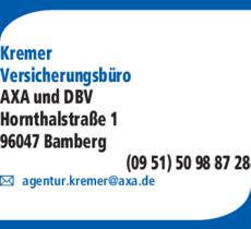 Anzeige Kremer Versicherungsbüro
