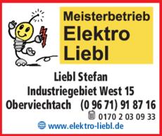 Anzeige Liebl Stefan, Elektro