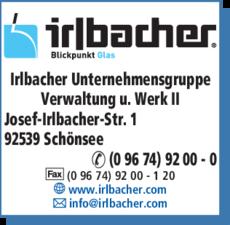 Anzeige Irlbacher Unternehmensgruppe