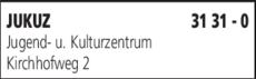 Anzeige JUKUZ Jugend- u. Kulturzentrum