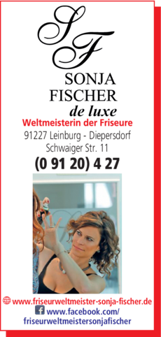 Anzeige Friseurweltmeisterin Fischer Sonja