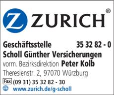 Anzeige Scholl Günther Versicherungen