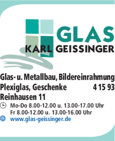 Anzeige Geissinger Karl GmbH