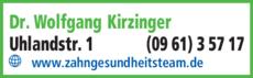 Anzeige Kirzinger Wolfgang Dr.