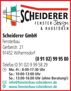 Anzeige Scheiderer GmbH