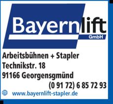Anzeige ASV Bayernlift GmbH
