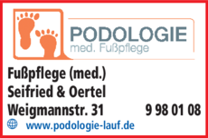 Anzeige Fußpflege (med.) Seifried & Oertel