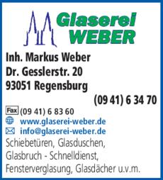 Anzeige Glaserei Weber