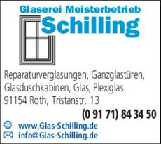 Anzeige Glaserei Schilling
