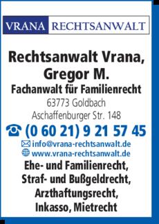 Rechtsanwalt Vrana Gregor M In Goldbach In Das örtliche