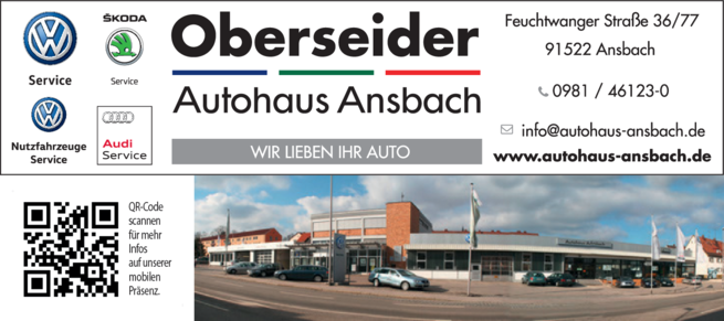Anzeige Auto Autohaus Ansbach Oberseider W.GmbH&Co.KG