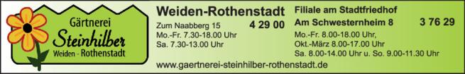Anzeige Steinhilber Hans Inh. Steinhilber Kurt