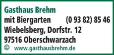 Anzeige Gasthaus Brehm