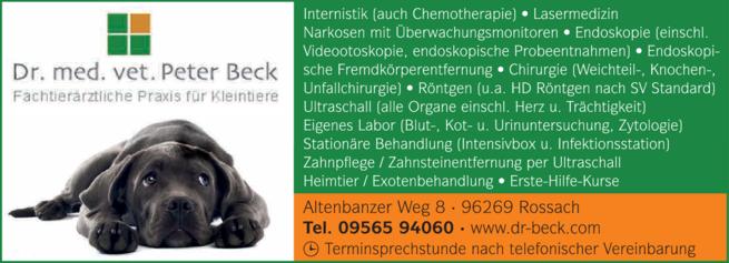 Anzeige Beck Peter Dr.med.vet., Tierarzt