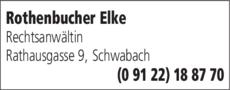 Anzeige Rothenbucher Elke