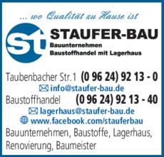 Anzeige Staufer-Bau GmbH