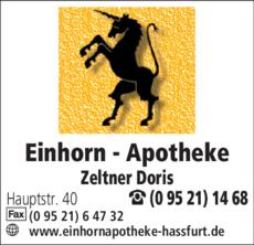 Anzeige Einhorn - Apotheke Zeltner D.