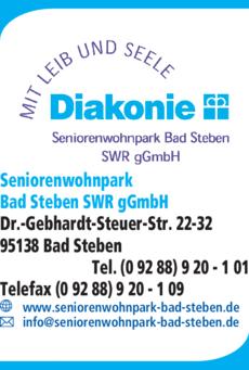 Anzeige Seniorenwohnpark Bad Steben