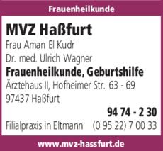 Anzeige MVZ Haßfurt Frauenheilkunde