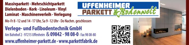 Anzeige Uffenheimer Parkett GmbH