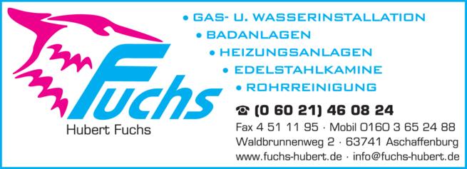 Anzeige Heizungs Fuchs Hubert