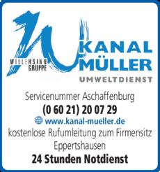 Anzeige Müller Umweltdienst GmbH