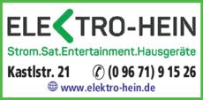 Anzeige Elektro-Hein GbR
