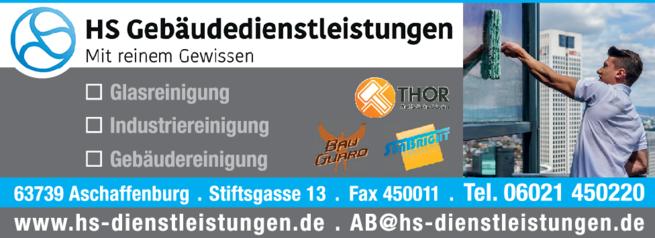 Anzeige Sanierung HS Dienstleistungen GmbH