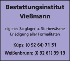 Anzeige Bestattungen Vießmann Inh. Thomas Götz e.K.