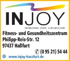 Anzeige INJOY Fitness und Gesundheitszentrum