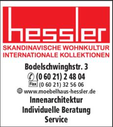 Anzeige Hessler Möbel