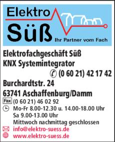 Anzeige Elektro - Süß GmbH