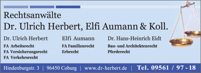 Anzeige Herbert Ulrich Dr., Aumann & Kollegen