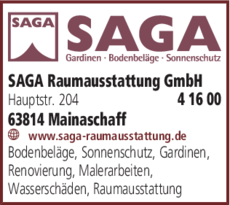 Anzeige Plissee Saga Raumausstattung GmbH