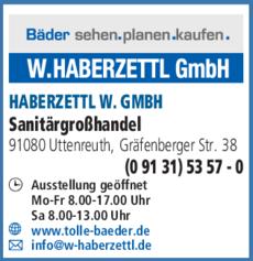 Anzeige HABERZETTL W. GMBH