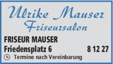 Anzeige FRISEUR MAUSER
