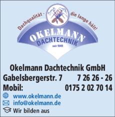 Anzeige Dachdecker- u. Flaschnermeister OKELMANN HELMUT GmbH