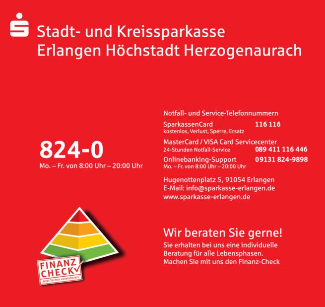 Anzeige Stadt- und Kreissparkasse Erlangen Höchstadt Herzogenaurach