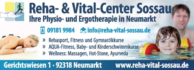 Anzeige Reha- & Vital-Center Sossau GmbH