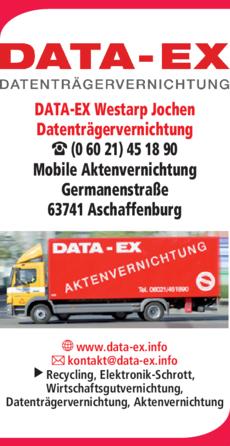 Anzeige DATA-EX Westarp Jochen Datenträgervernichtung