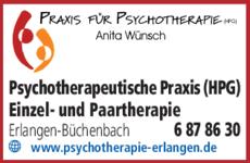 Anzeige Psychotherapeutische Praxis Wünsch Anita (HPG)