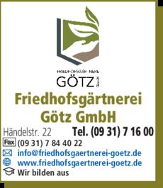 Anzeige Friedhofsgärtnerei Götz GmbH